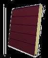 Панель секционных ворот бордовая