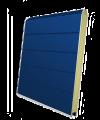 Панель секционных ворот синяя