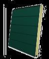 Панель секционных ворот зеленая