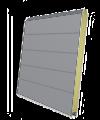 Панель секционных ворот серая