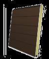 Панель секционных ворот коричневая