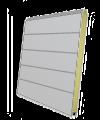Панель секционных ворот серебристая
